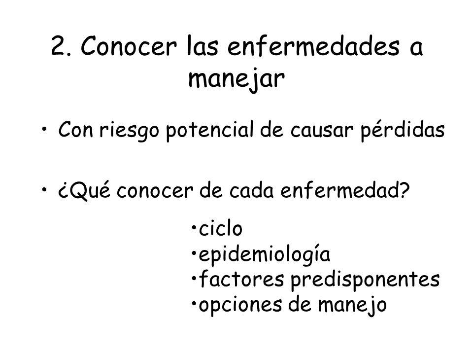 Análisis del agroecosistema + vulnerable: monocultivo, clones alto N dependencia de productos químicos Menos vulnerable: diversidad: cultivos, genes d