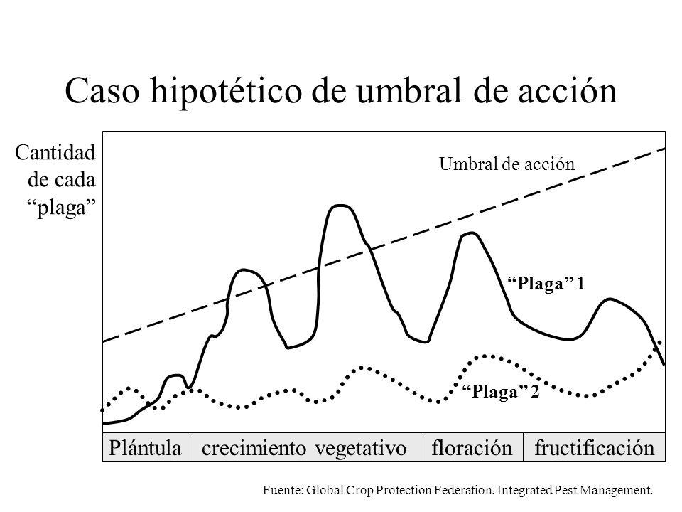 umbral El umbral varía con: estado de desarrollo del cultivo variedad enfermedad estándares de mercado características del productor