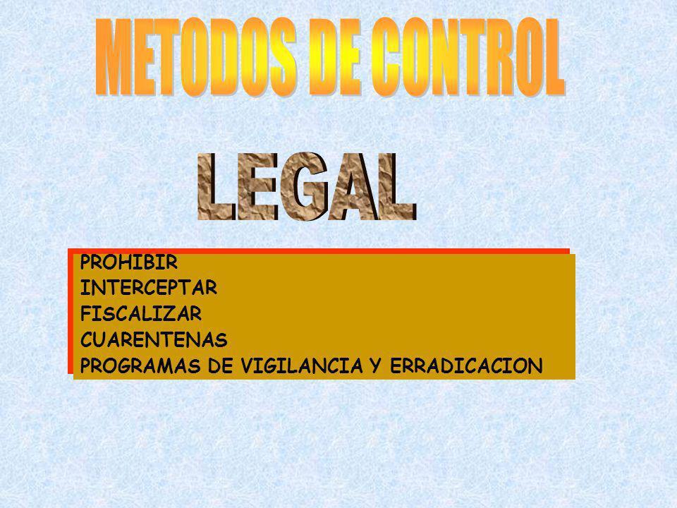 PROHIBIR INTERCEPTAR FISCALIZAR CUARENTENAS PROGRAMAS DE VIGILANCIA Y ERRADICACION PROHIBIR INTERCEPTAR FISCALIZAR CUARENTENAS PROGRAMAS DE VIGILANCIA
