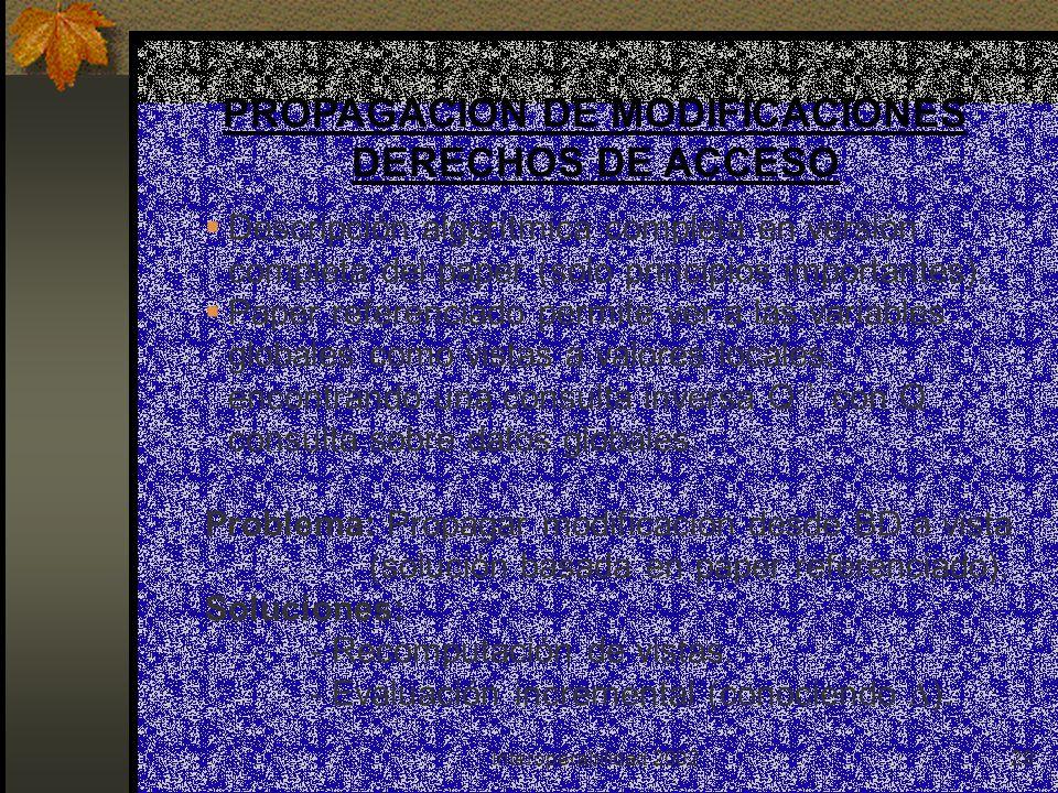 Interoperabilidad 200229 PROPAGACIÓN DE MODIFICACIONES DERECHOS DE ACCESO Descripción algorítmica completa en versión completa del paper (solo principios importantes).