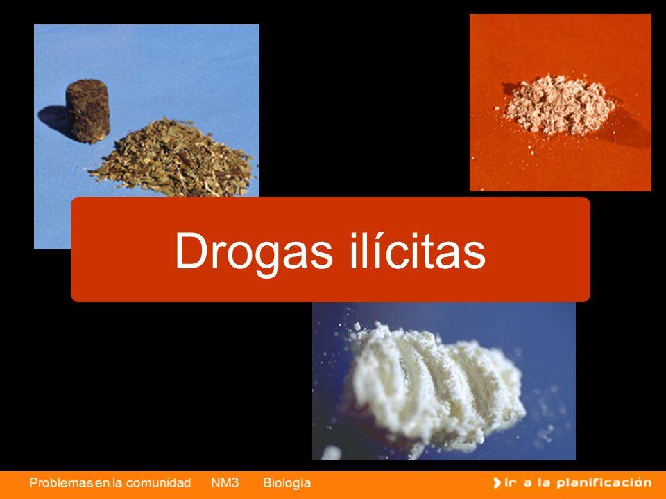 Problemas en la comunidad NM3 Biología Drogas ilícitas