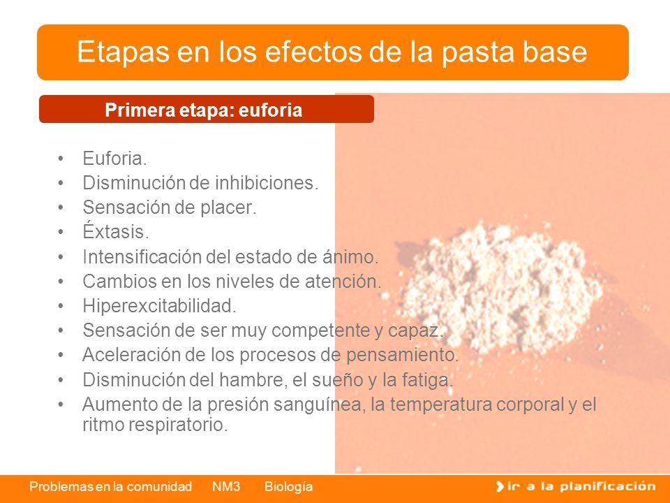 Problemas en la comunidad NM3 Biología Euforia.Disminución de inhibiciones.