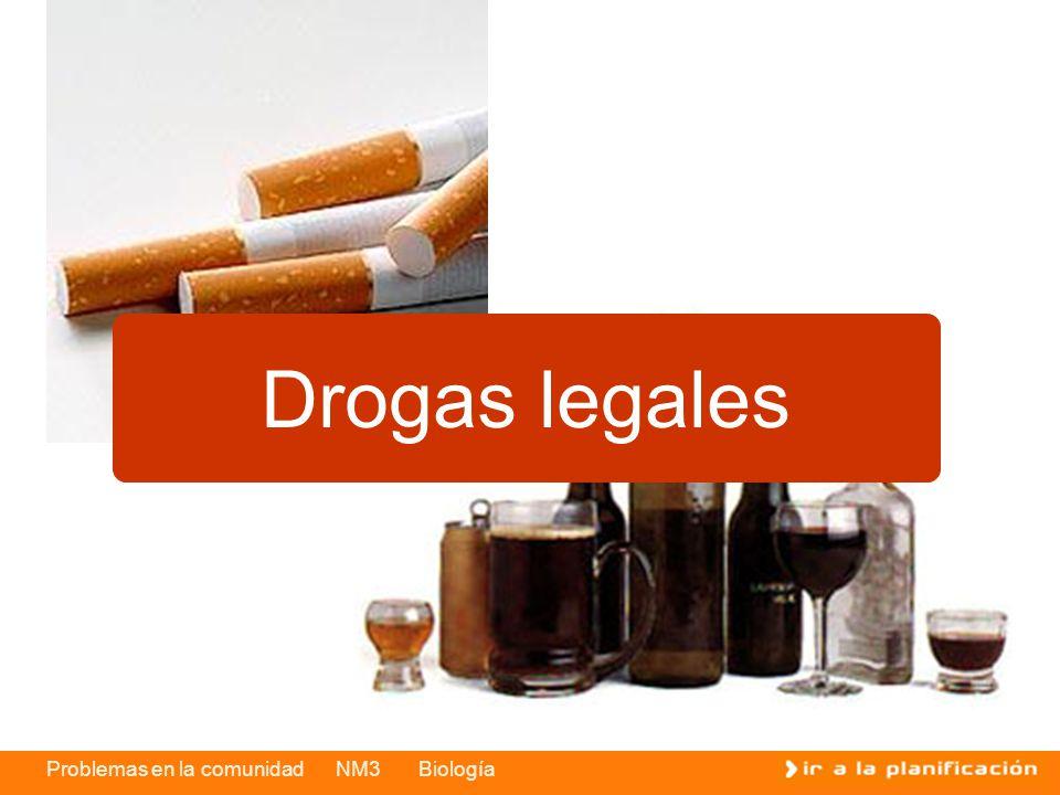 Problemas en la comunidad NM3 Biología Drogas legales