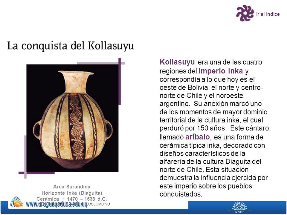 ir al índice Kollasuyu era una de las cuatro regiones del imperio Inka y correspondía a lo que hoy es el oeste de Bolivia, el norte y centro- norte de
