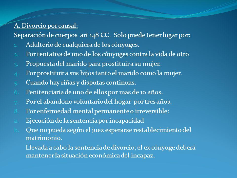 Divorcio en el régimen uruguayo: Por causales.Por conversión.