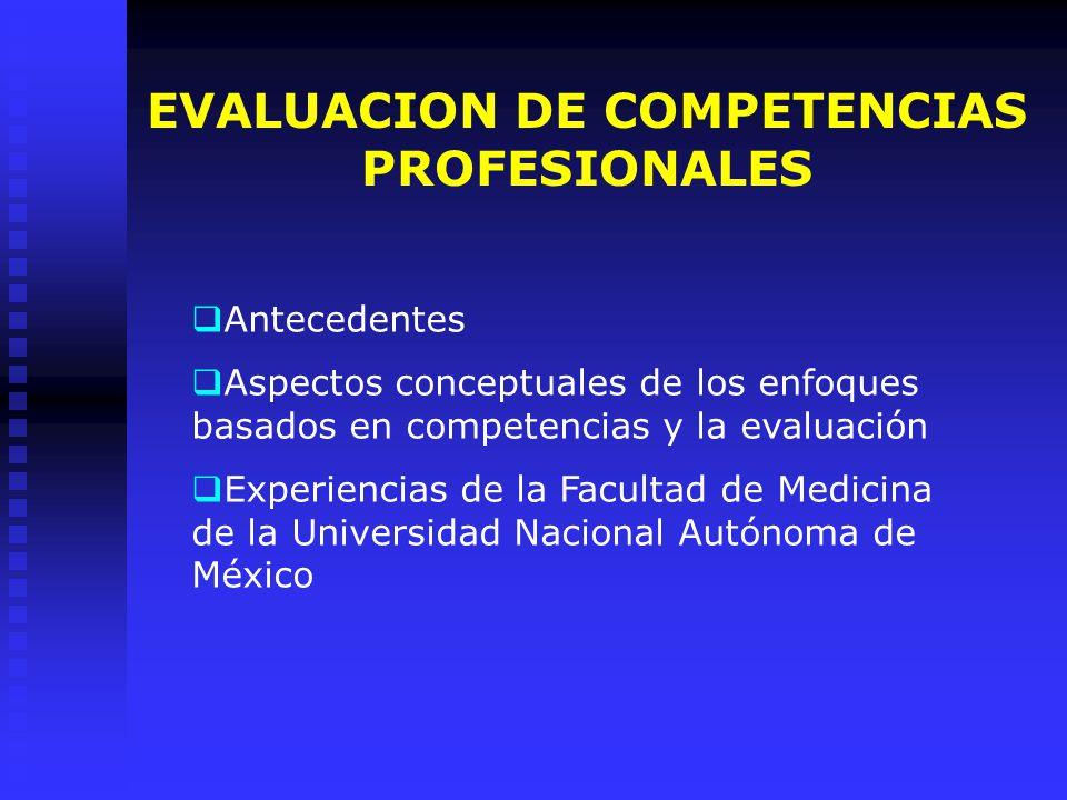 EVALUACION DE LA COMPETENCIAS PROFESIONALES DRA.MA.