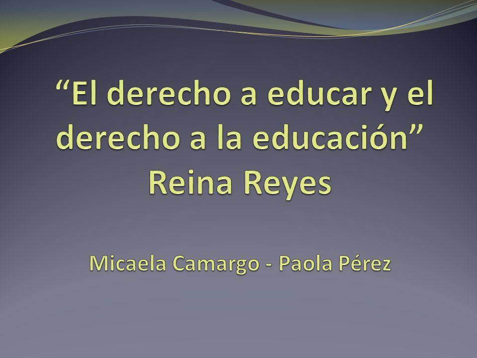 El Derecho a la educación El Derecho a la educación Art.