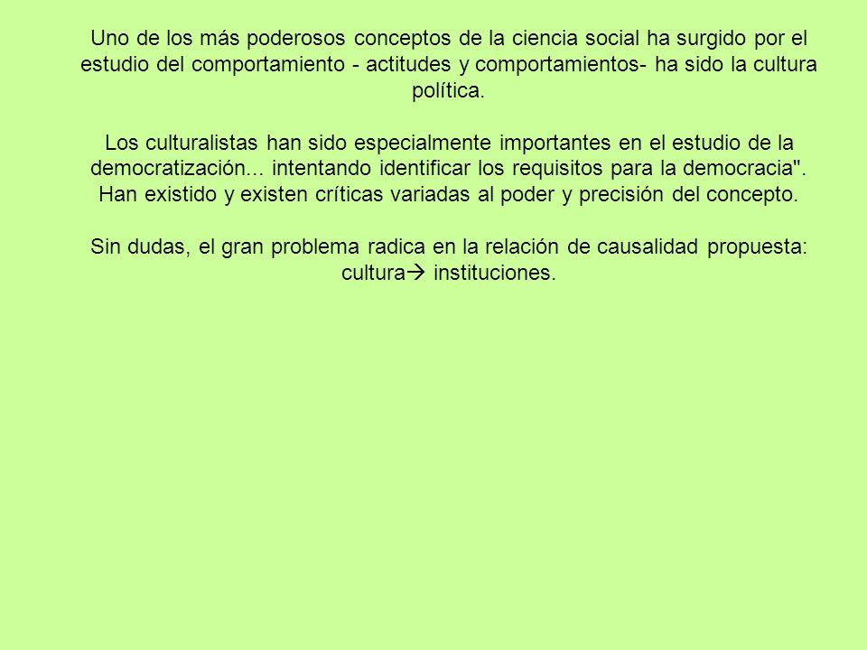 CULTURA POLÍTICA Daniela Vairo