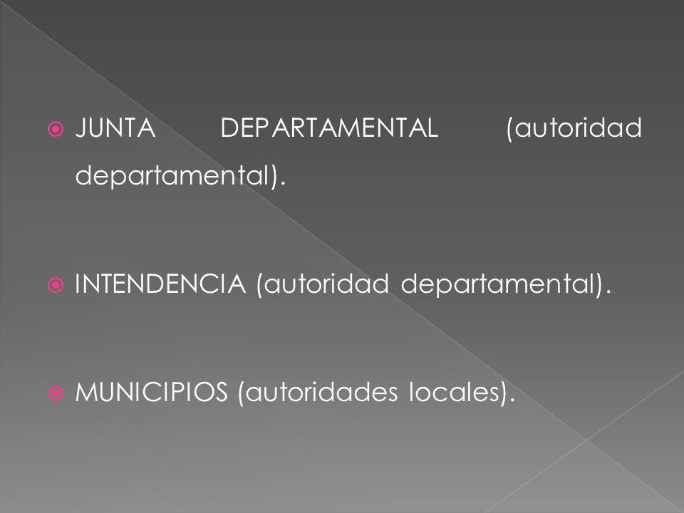 Las Juntas Departamentales se compondrán de 31 miembros, que durarán 5 años en sus cargos.