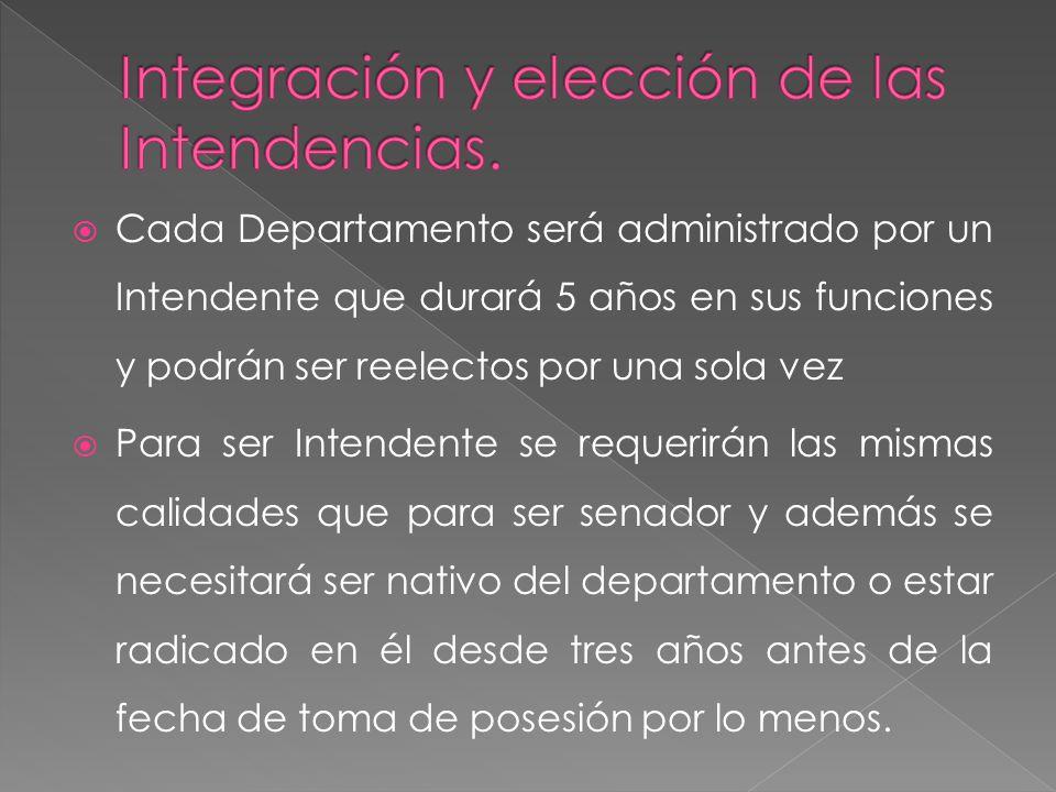El Intendente será electo directamente por el pueblo conjuntamente con las Juntas Departamentales y los Municipios.
