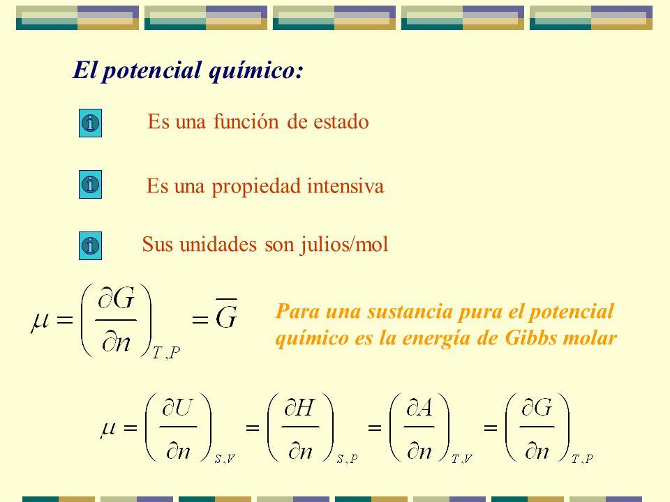 Si consideramos sistemas en los que la composición puede cambiar las ecuaciones de Gibbs deben modificarse como: Sistemas cerrados, en equilibrio, de