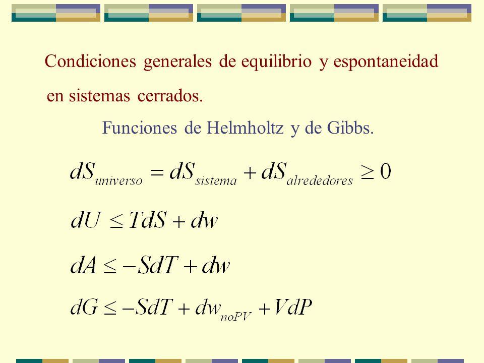 Para conocer el potencial químico de cada uno de los gases en la mezcla se hace el mismo razonamiento que para un gas puro donde el miembro de la izqu