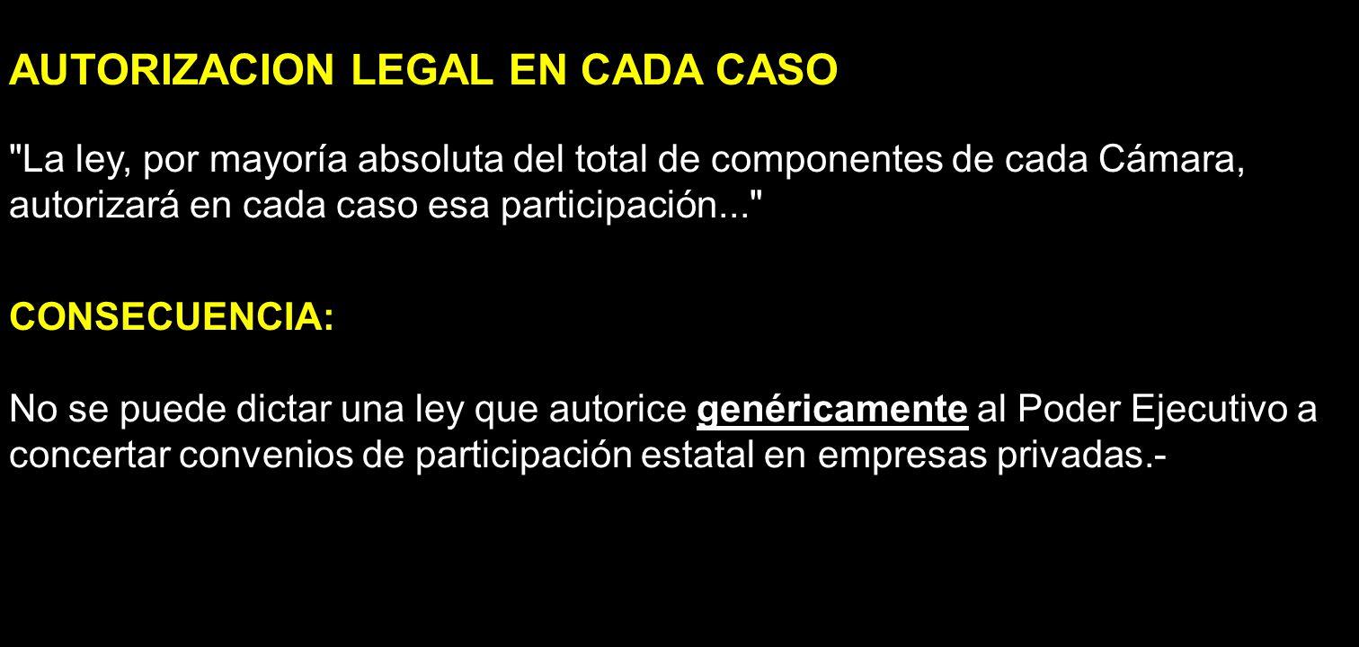 AUTORIZACION LEGAL EN CADA CASO