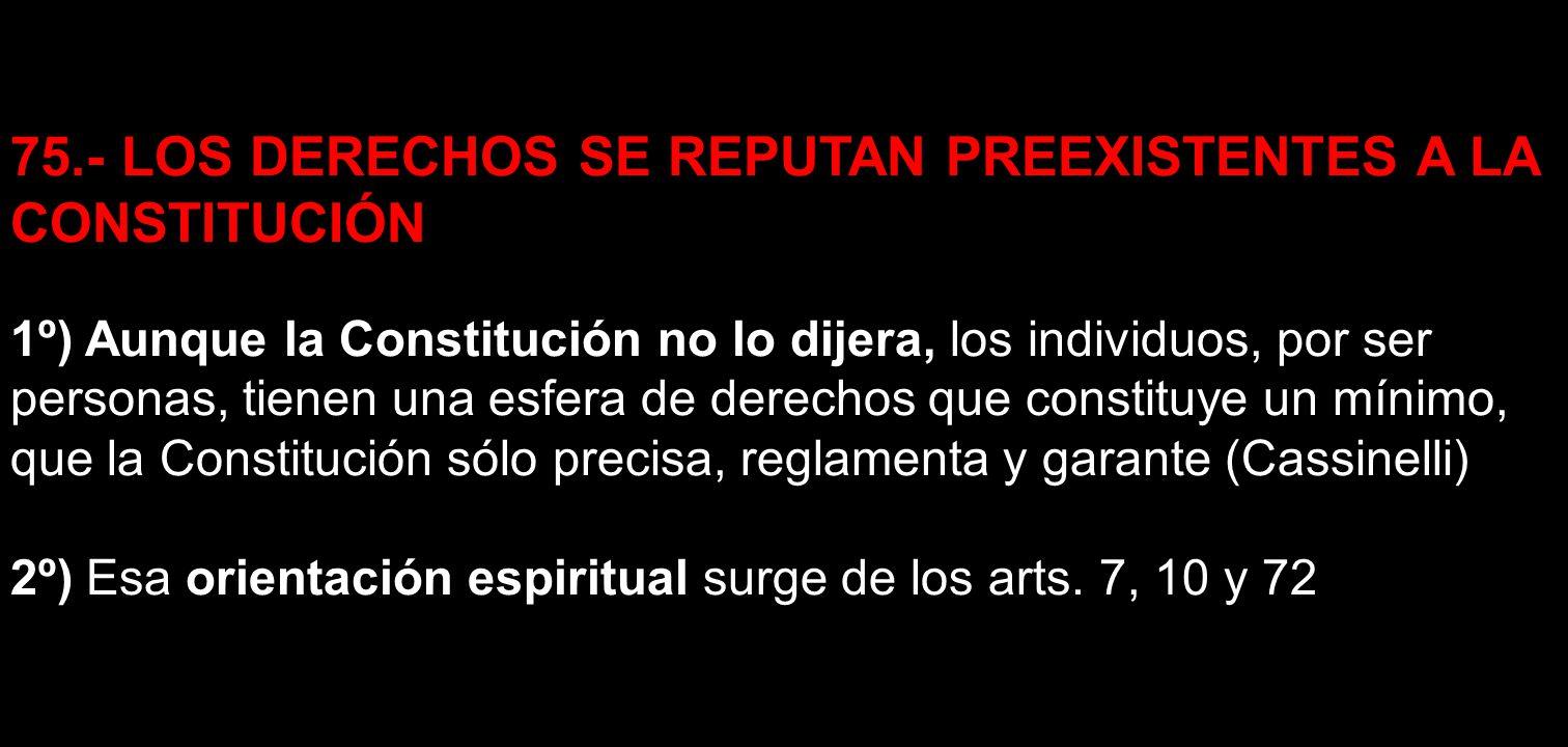 DISPOSICIONES CONSTITUCIONALES Artículo 7º.- Los habitantes de la República tienen derecho a ser protegidos en el goce de su vida, honor, libertad, seguridad, trabajo y propiedad.