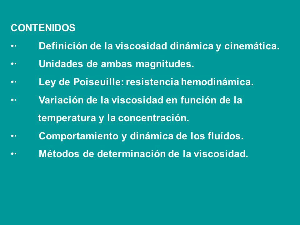TEMA: VISCOSIDAD, HIDRO y HEMODINAMICA OBJETIVOS Comprender el concepto de viscosidad y su importancia en los sistemas biológicos. · Conocer y aplicar