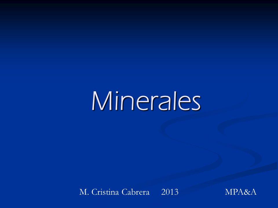 Macrominerales y microminerales.