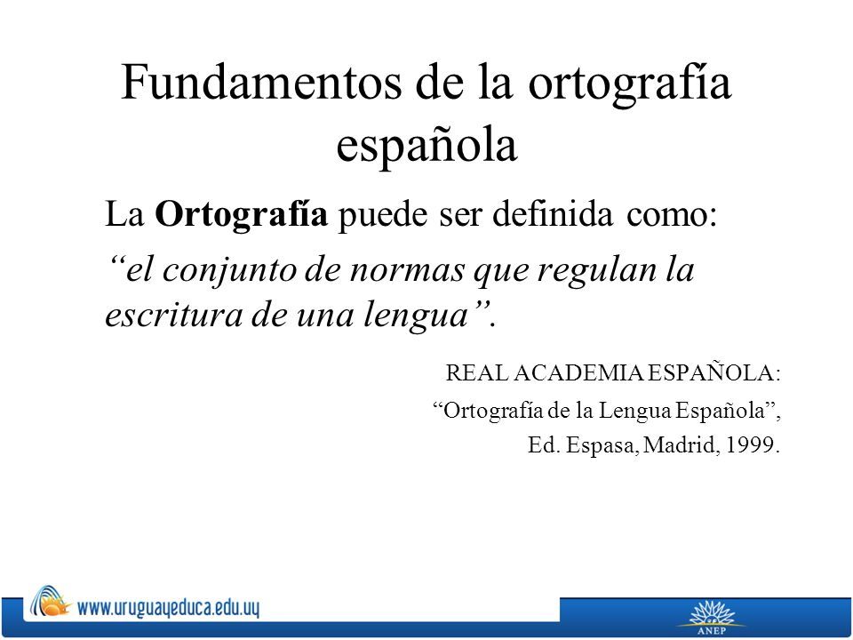 La escritura española representa la lengua hablada a través de letras y de otros signos gráficos.