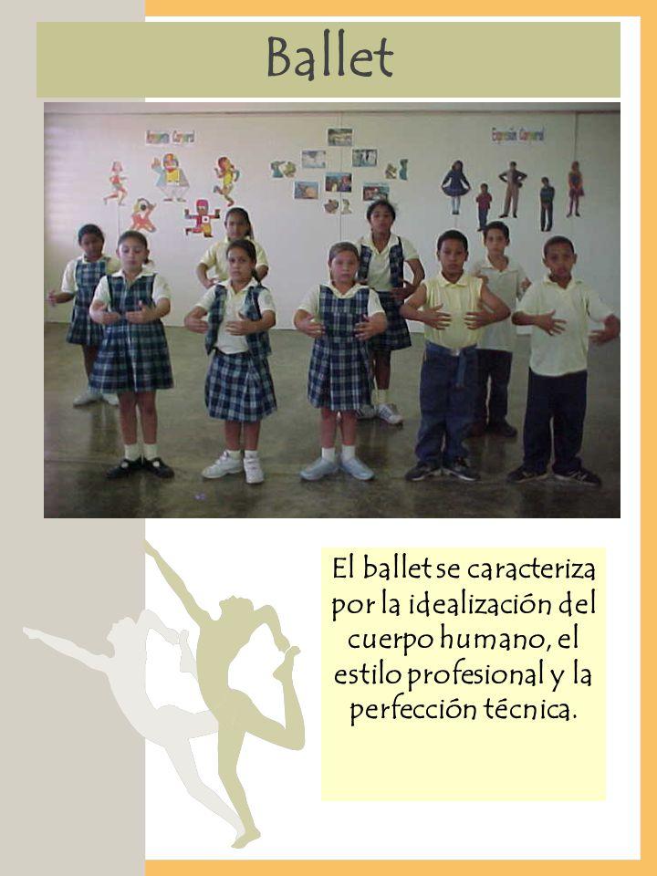 Ballet El ballet se caracteriza por la idealización del cuerpo humano, el estilo profesional y la perfección técnica.