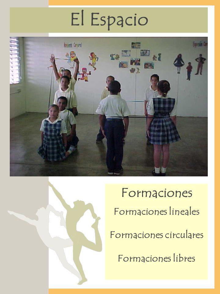 El Espacio Formaciones Formaciones lineales Formaciones circulares Formaciones libres
