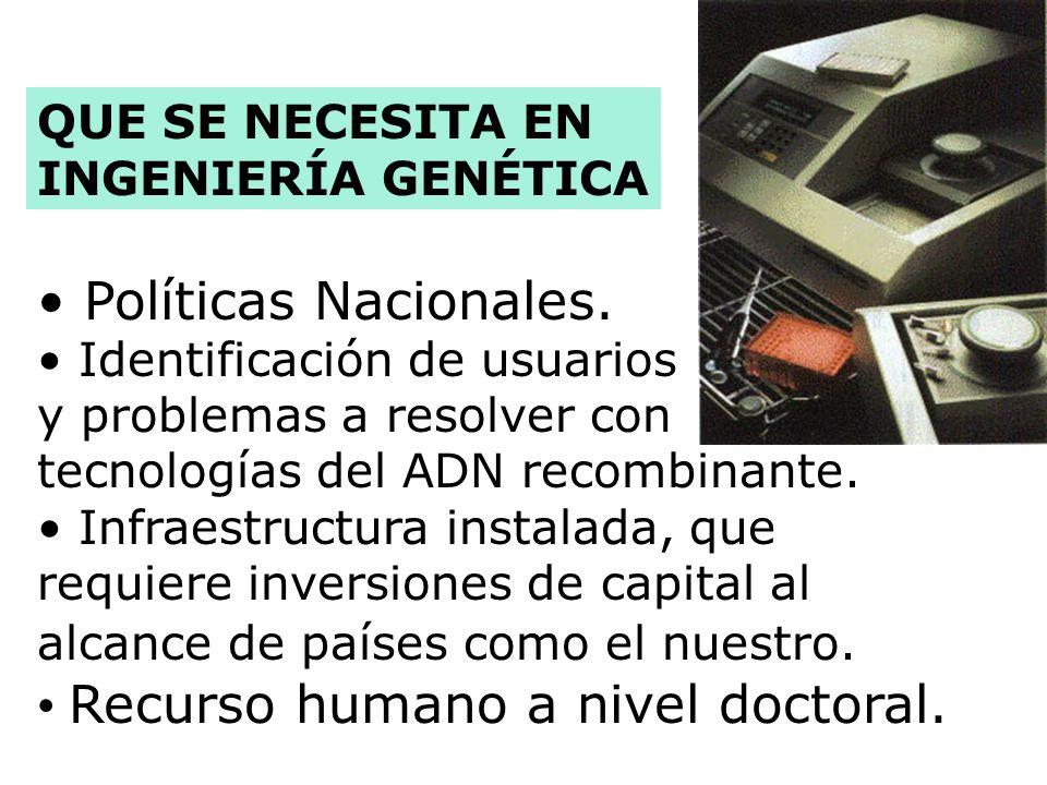 Inició su desarrollo en la década de los 70s. Con esta tecnología, se pueden aislar los genes, manipularlos, introducirlos a nuevos hospederos, y clon