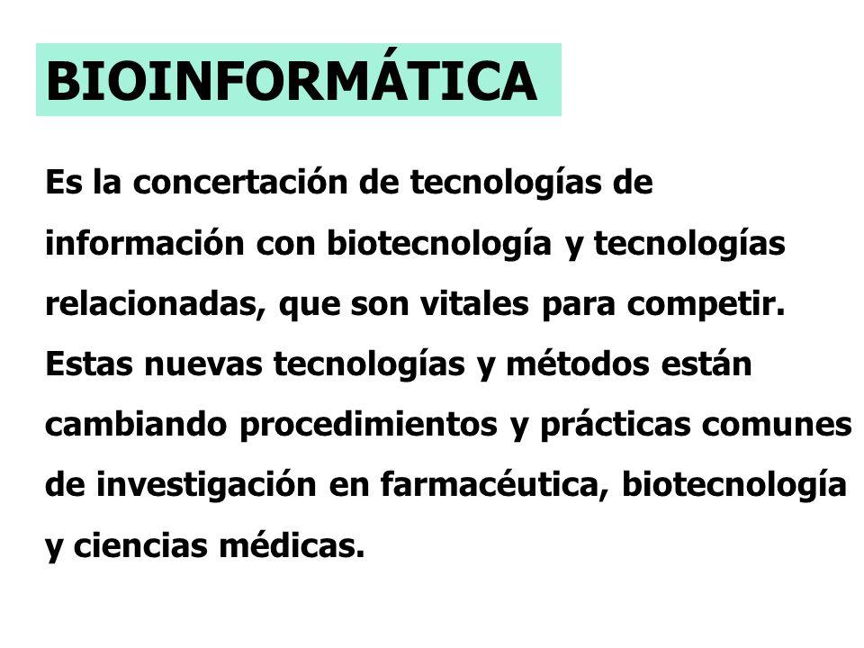 Es la concertación de tecnologías de información con biotecnología y tecnologías relacionadas, que son vitales para competir.