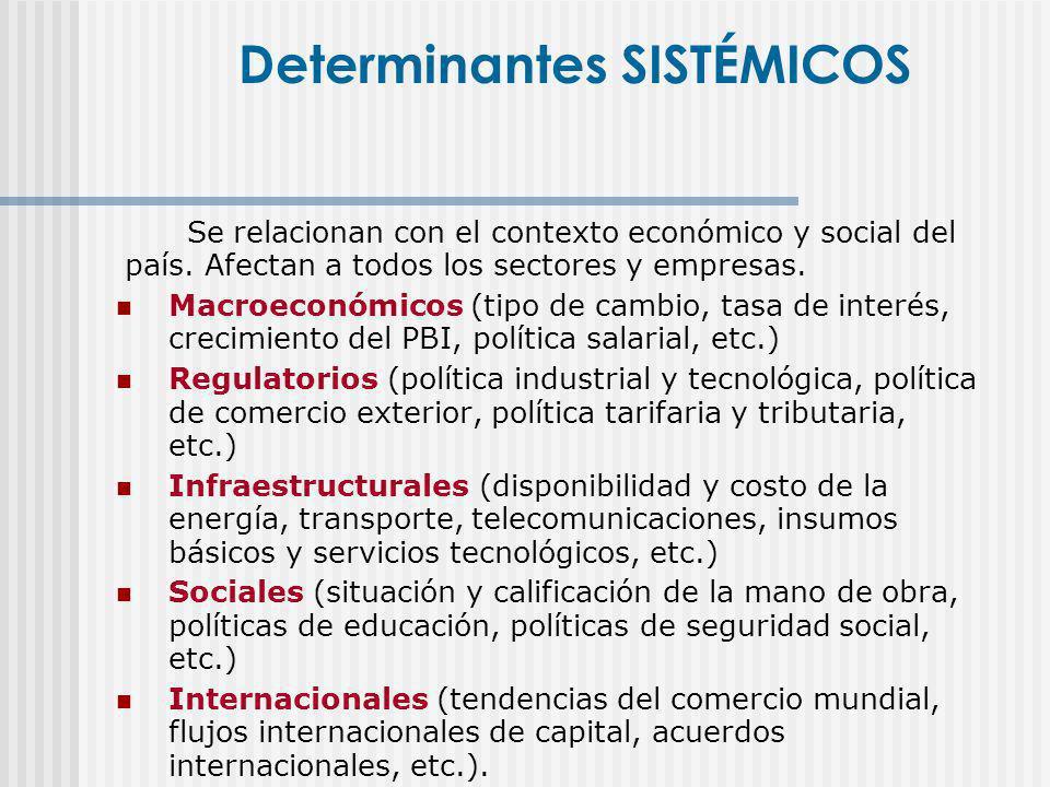 Se relacionan con el contexto económico y social del país. Afectan a todos los sectores y empresas. Macroeconómicos (tipo de cambio, tasa de interés,