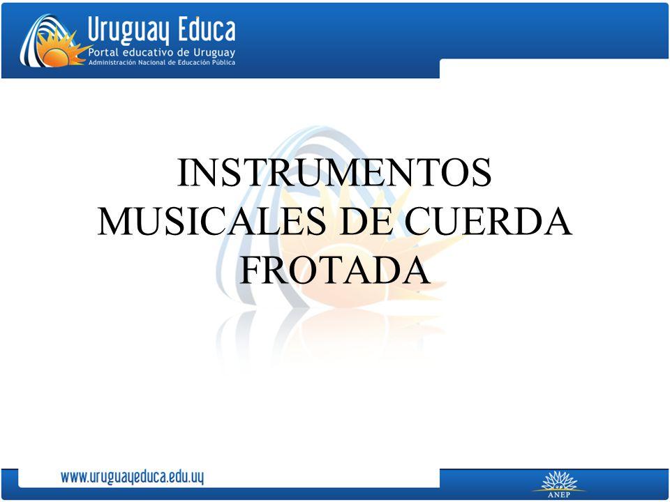 INSTRUMENTOS MUSICALES DE CUERDA FROTADA