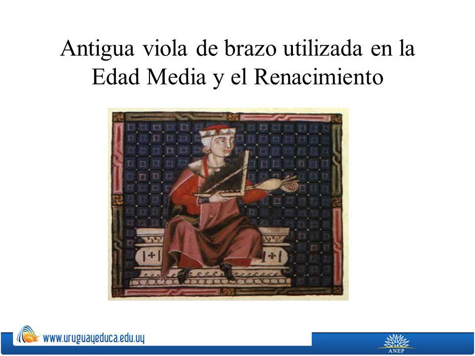 Antigua viola de brazo utilizada en la Edad Media y el Renacimiento