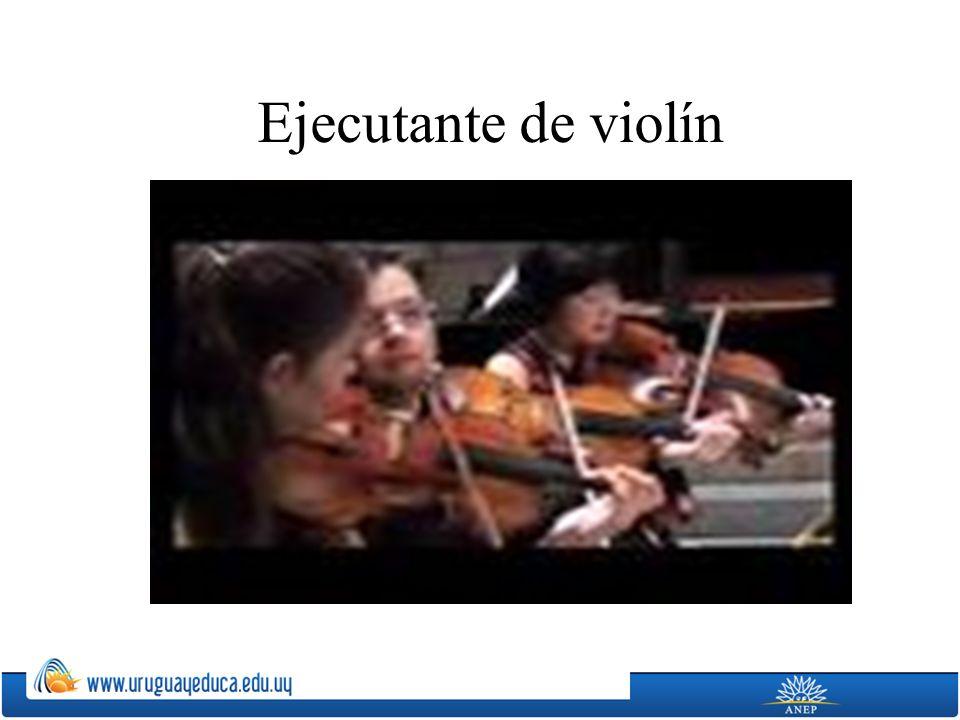 Ejecutante de violín