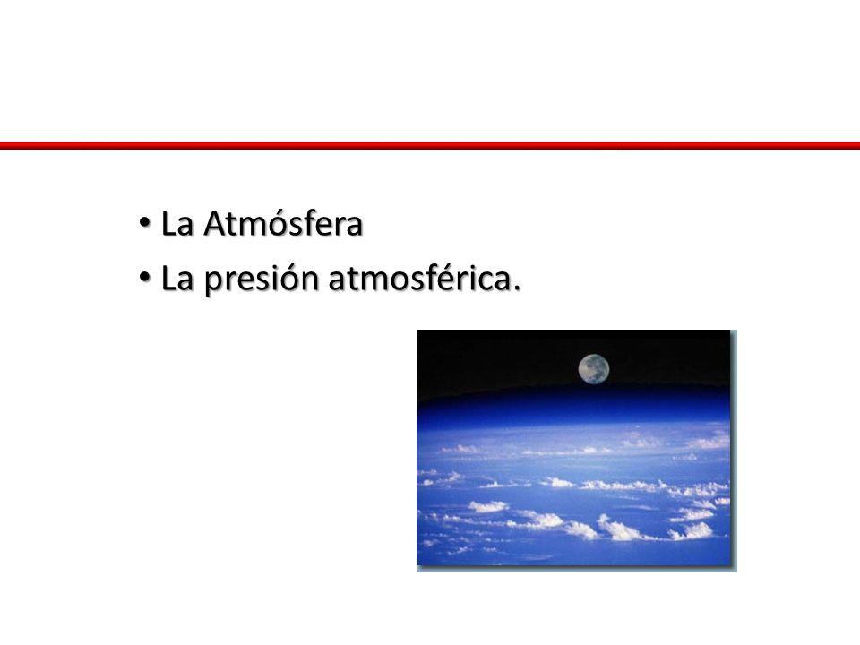 La Atmósfera La Atmósfera La presión atmosférica. La presión atmosférica.
