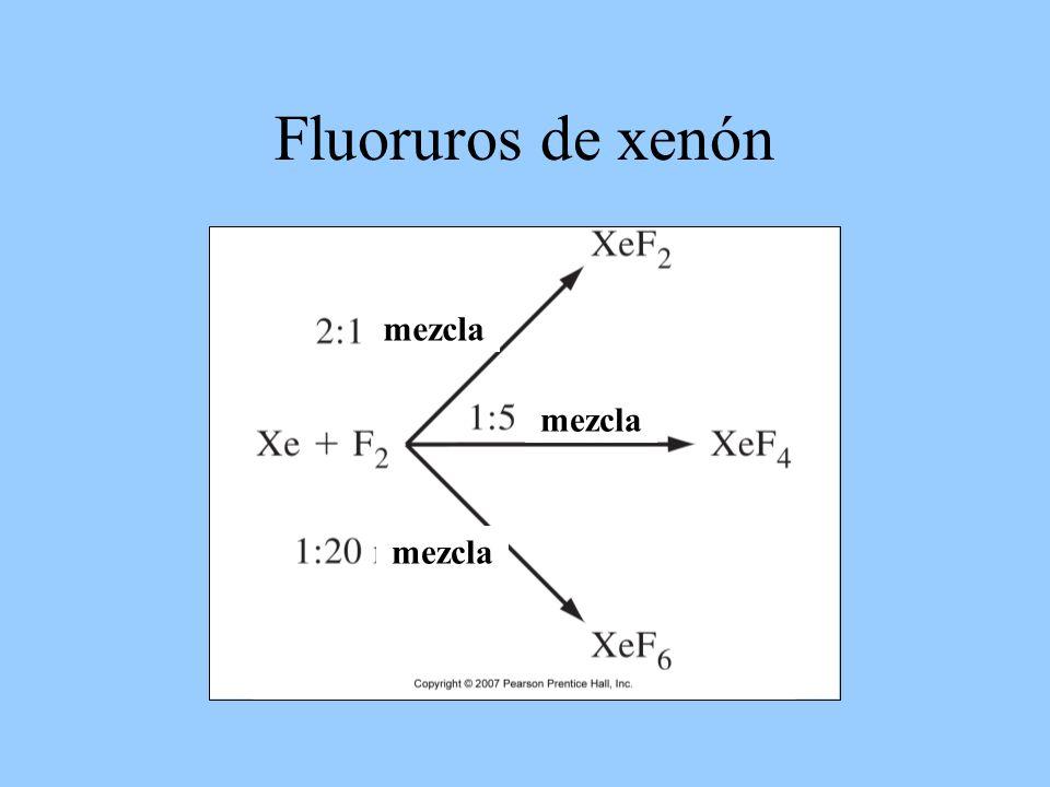 Fluoruros de xenón mezcla