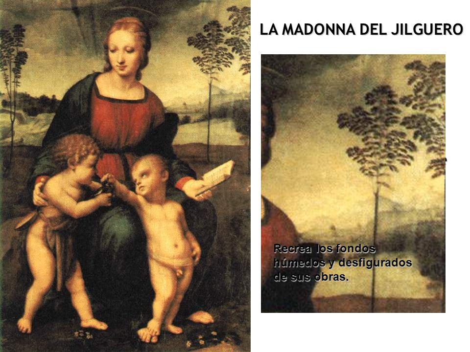 Demuestra hasta qué punto pudo influir sobre él la pintura de Leonardo. Rafael recurre a la composición piramidal, tan característica de Leonardo Da V