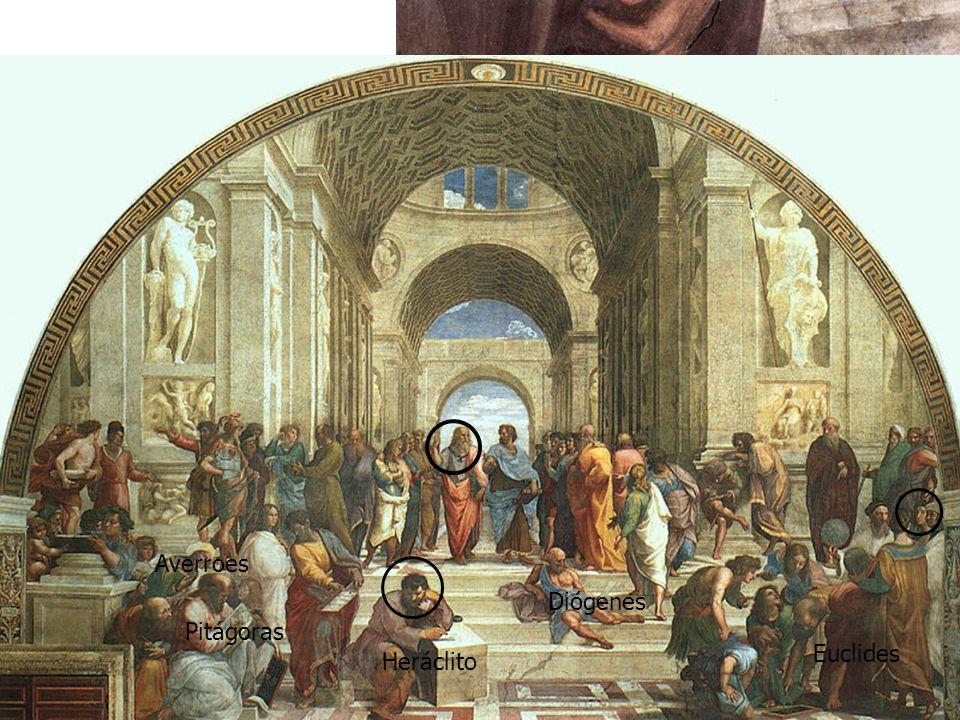 Rafael se ha retratado en el joven del gorro negro, en el extremo derecho de la obra Pitágoras Averroes Heráclito Diógenes Euclides