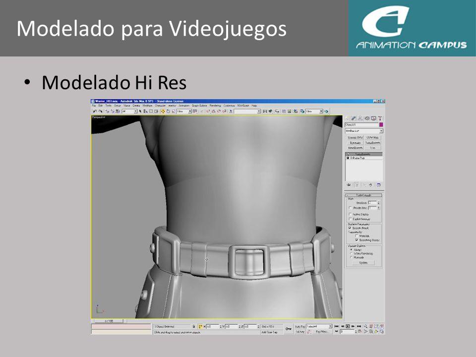 Modelado Hi Res Modelado para Videojuegos