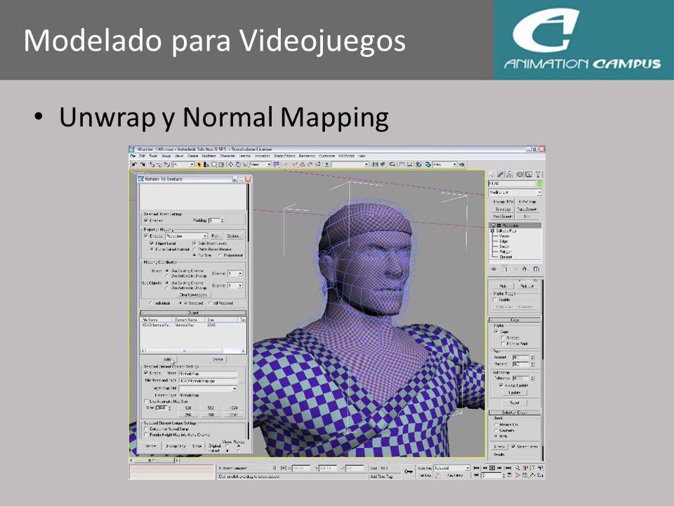 Unwrap y Normal Mapping Modelado para Videojuegos
