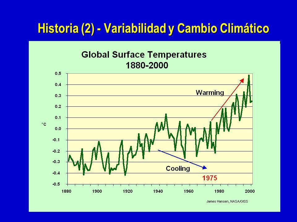 Historia (2) - Variabilidad y Cambio Climático