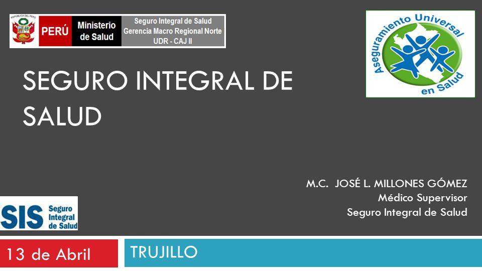 13 de Abril SEGURO INTEGRAL DE SALUD M.C.JOSÉ L.