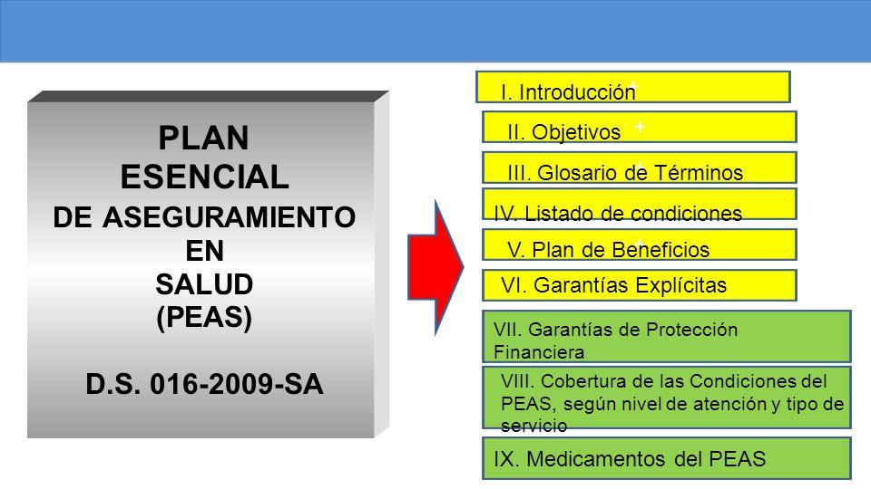 PLAN ESENCIAL DE ASEGURAMIENTO EN SALUD (PEAS) D.S.