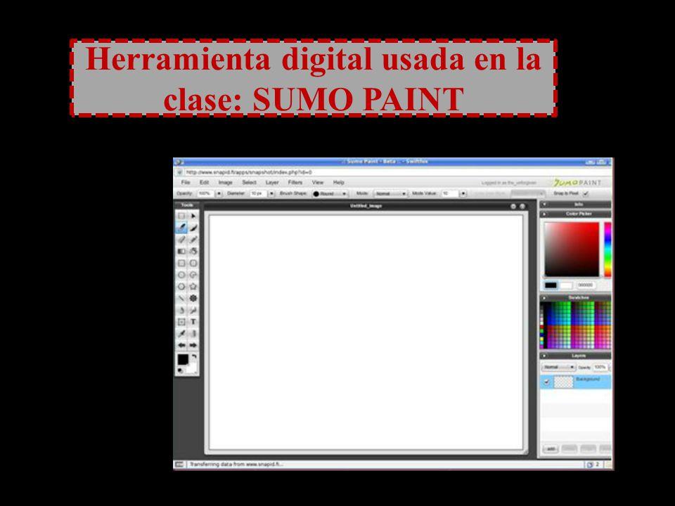 Herramienta digital usada en la clase: SUMO PAINT