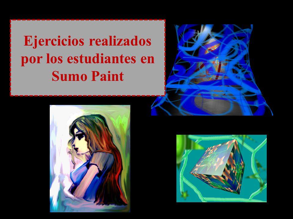 Ejercicios realizados por los estudiantes en Sumo Paint