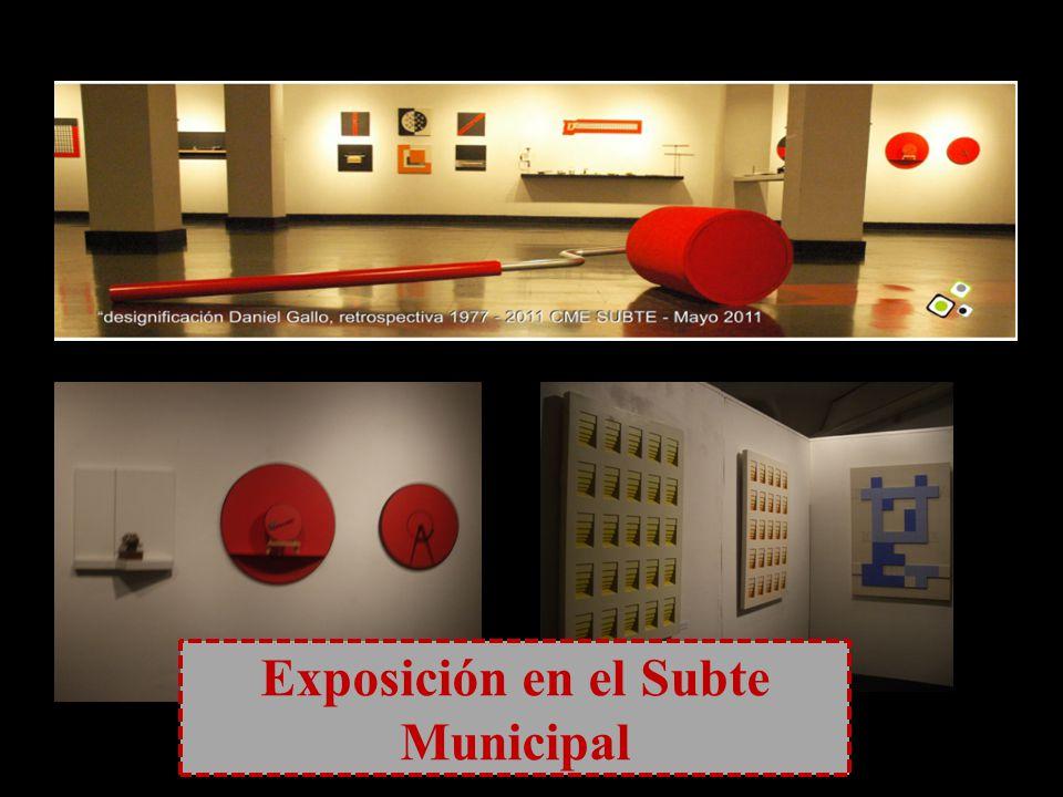 Exposición en el Subte Municipal