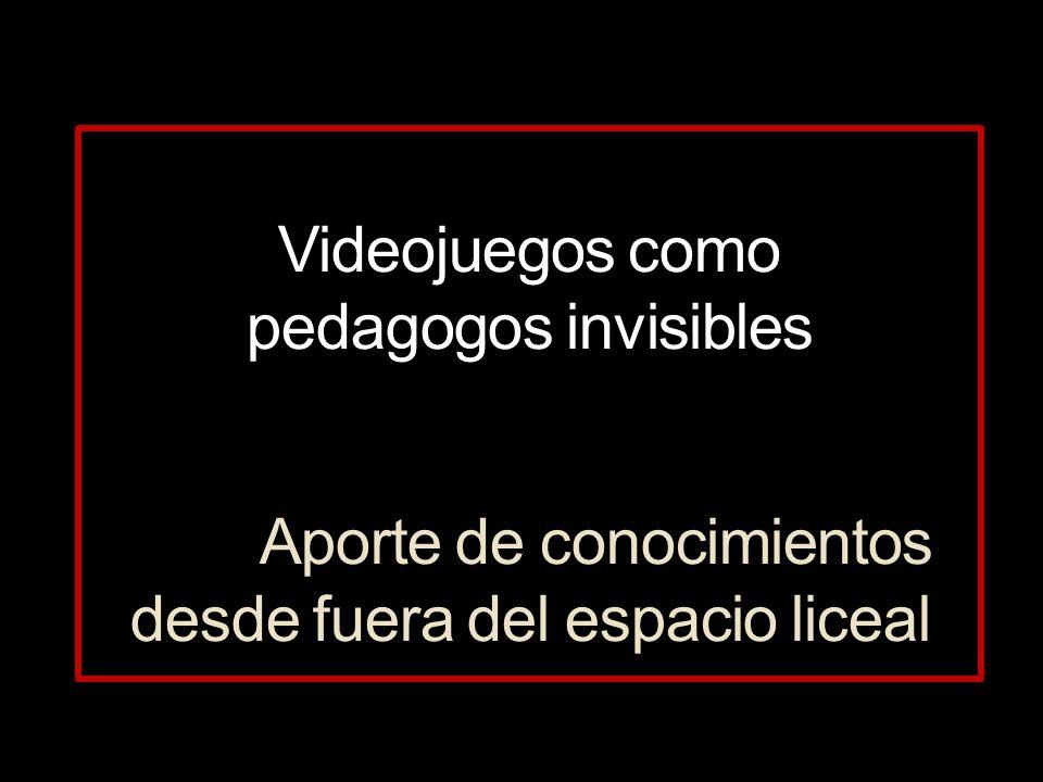 Videojuegos como pedagogos invisibles Aporte de conocimientos desde fuera del espacio liceal