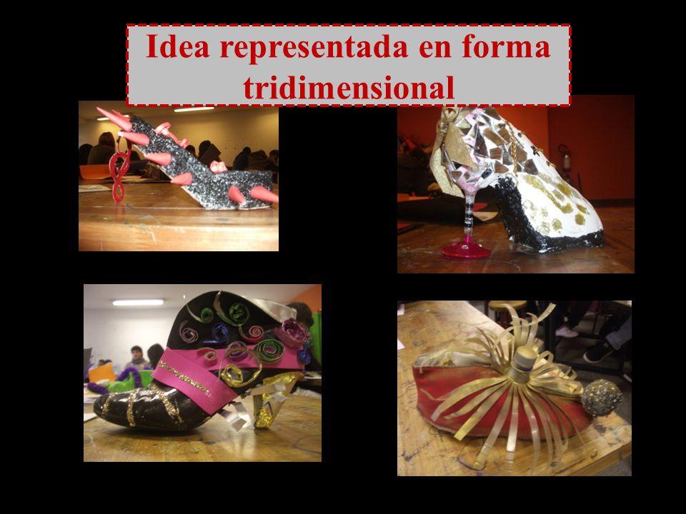 Idea representada en forma tridimensional
