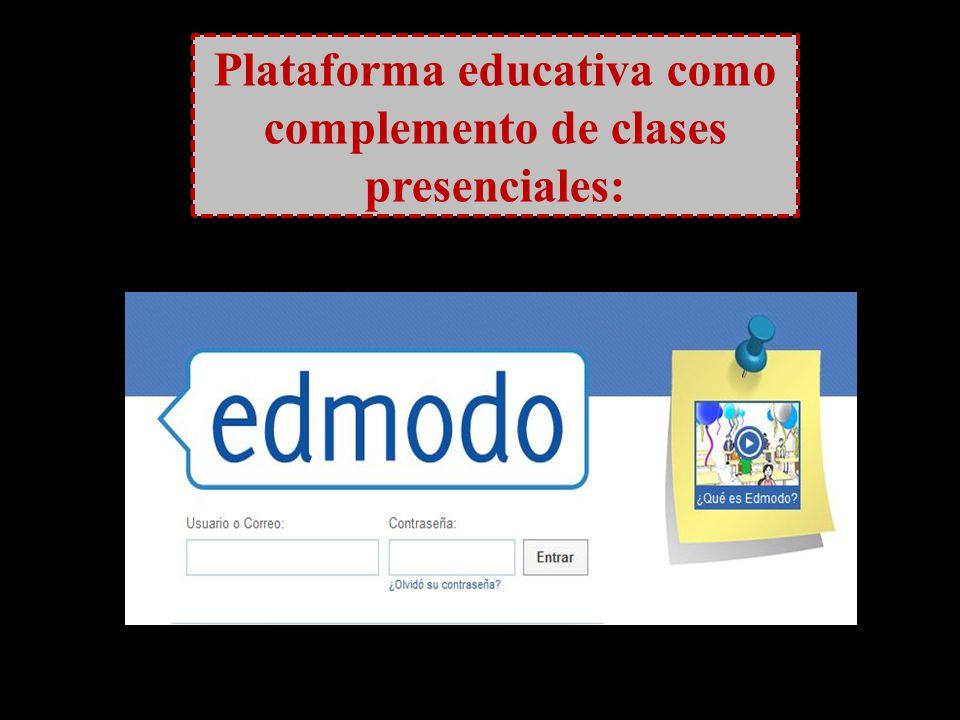 Plataforma educativa como complemento de clases presenciales: