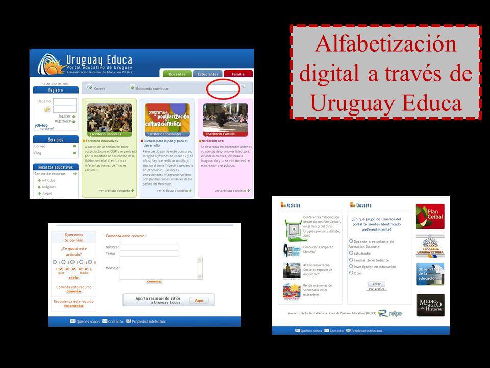 Alfabetización digital a través de Uruguay Educa