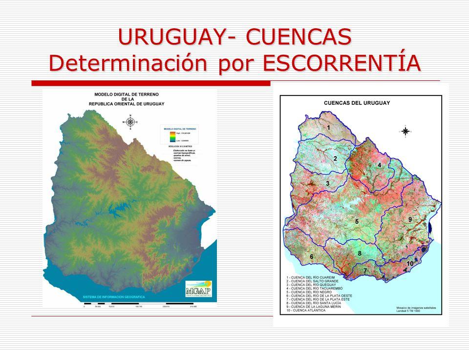 URUGUAY- CUENCAS Determinación por ESCORRENTÍA