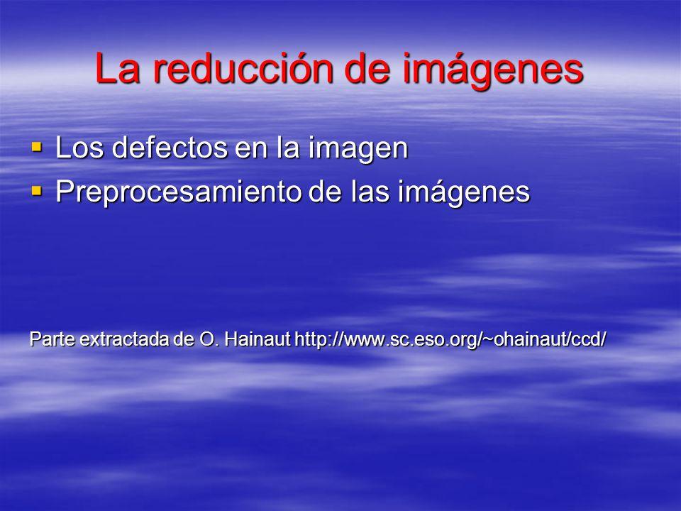 La reducción de imágenes Los defectos en la imagen Los defectos en la imagen Preprocesamiento de las imágenes Preprocesamiento de las imágenes Parte e