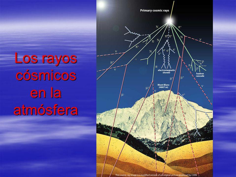 Los rayos cósmicos en la atmósfera