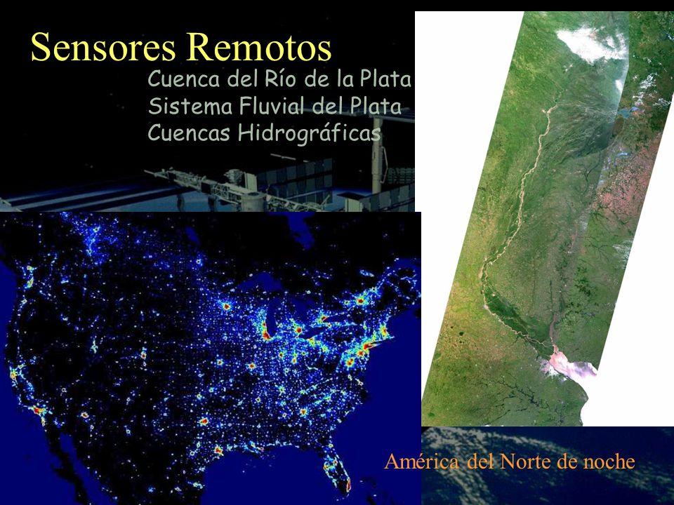Sensores Remotos Cuenca del Río de la Plata Sistema Fluvial del Plata Cuencas Hidrográficas América del Norte de noche