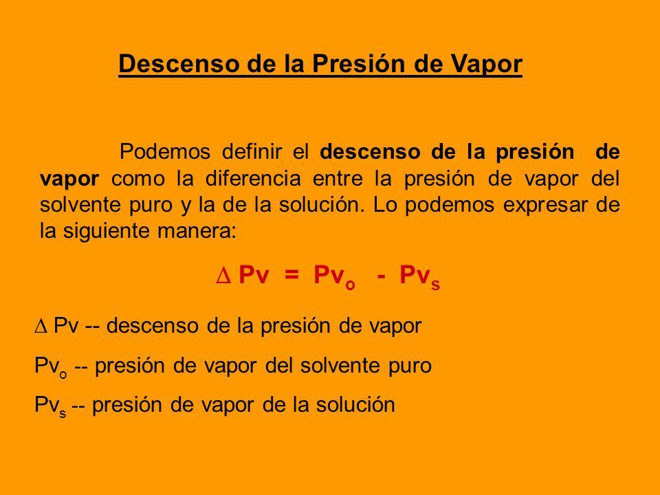 Las Propiedades Coligativas son propiedades universales de las soluciones y son: Descenso de la presión de vapor Ascenso ebulloscópico Descenso criosc